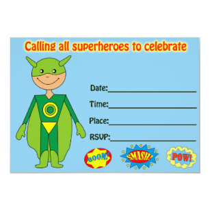 Blank birthday invitations zazzle superhero birthday invitation fill in blank filmwisefo