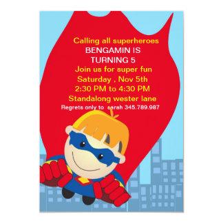 Superhero Birthday Invitation for the super boy bl