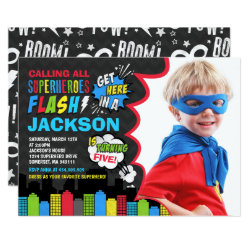 Superhero Birthday Invitation Superhero Party