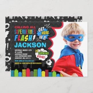 Superhero Birthday Invitation Superhero Party