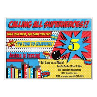 Superhero Party Invitations & Announcements | Zazzle