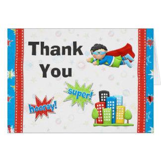 Superhero Birthday Party Thank You Greeting Cards