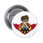 Superhero Boy Badge Buttons