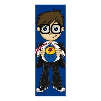 Superhero Boy Bookmark profilecard
