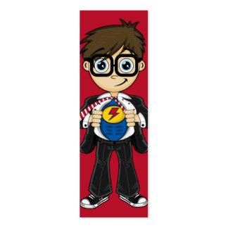 Superhero Boy Bookmark Pack Of Skinny Business Cards