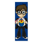Superhero Boy Bookmark Business Card Template