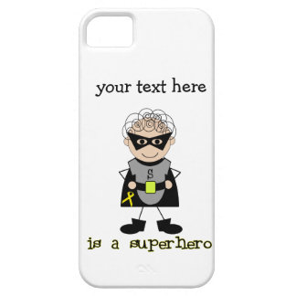 Superhero boy Childhood Cancer Awareness iPhone 5 Cases