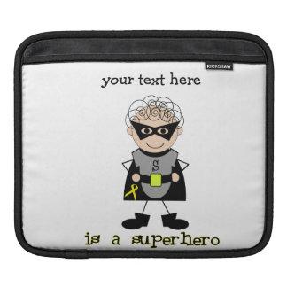 Superhero boy Childhood Cancer Awareness Sleeves For iPads
