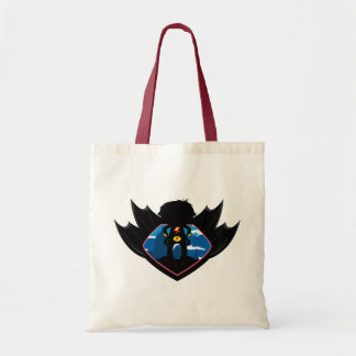 Superhero Boy in Winged Shield Tote Bags