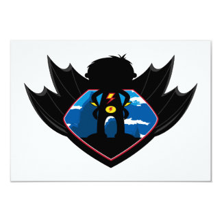 Superhero Boy in Winged Shield Card