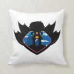 Superhero Boy in Winged Shield Pillow
