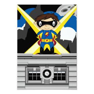 Superhero Boy on Rooftop Card