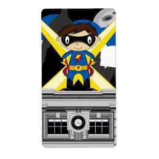 Superhero Boy on Rooftop Labels