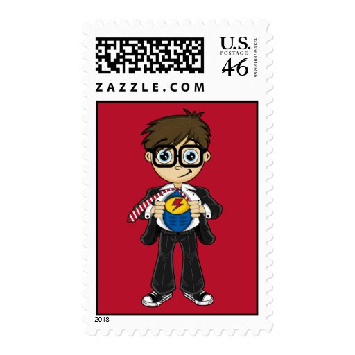 Superhero Boy Stamp