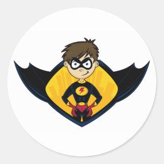 Superhero Boy Sticker