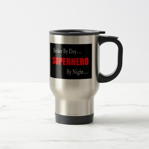 Superhero Broker 15 Oz Stainless Steel Travel Mug