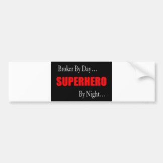 Superhero Broker Bumper Sticker