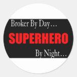 Superhero Broker Classic Round Sticker