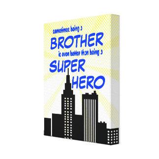 Superhero Brothers Comic Book Bedroom Nursery Art Canvas Print