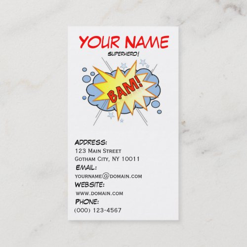 Superhero Business Card 3