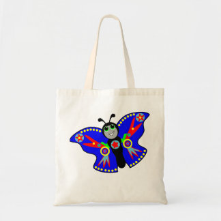 superhero butterfly on tote bag for kids
