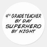 Superhero by Night - 4th Grade Stickers