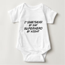 Superhero by Night - 5th Grade Baby Bodysuit