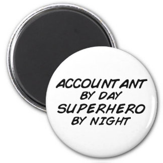 Superhero by Night - Accountant 2 Inch Round Magnet