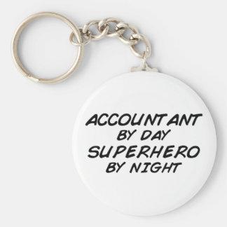 Superhero by Night - Accountant Basic Round Button Keychain