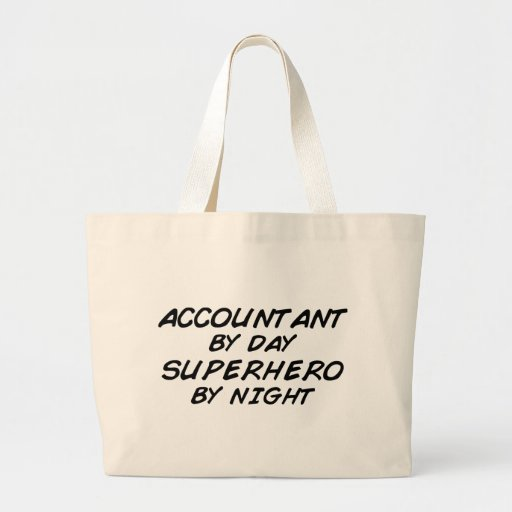Superhero by Night - Accountant Canvas Bags