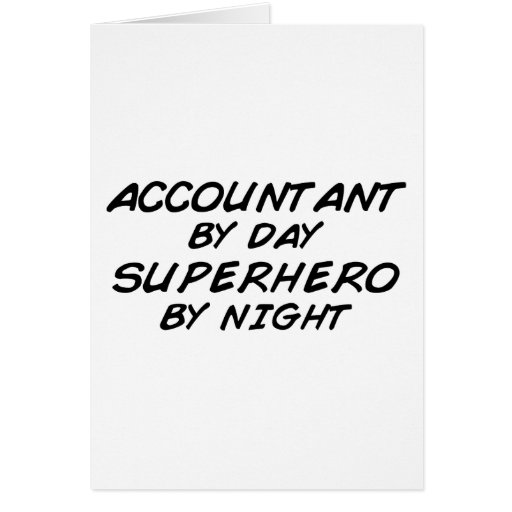 Superhero by Night - Accountant Card