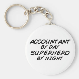 Superhero by Night - Accountant Keychain