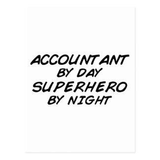 Superhero by Night - Accountant Postcard