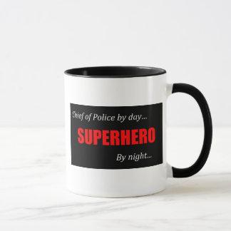 Superhero Chief of Police Mug