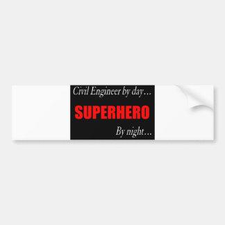 Superhero Civil Engineer Bumper Sticker