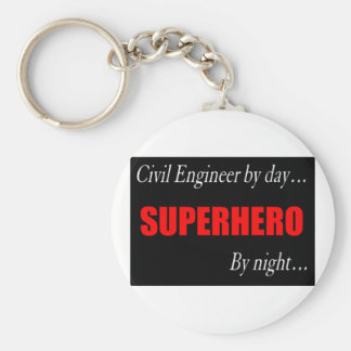 Superhero Civil Engineer Key Chain