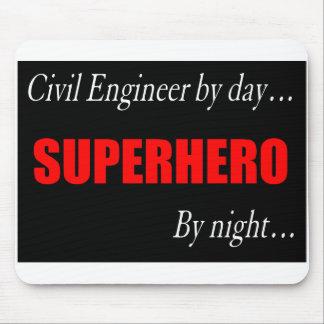 Superhero Civil Engineer Mousepad