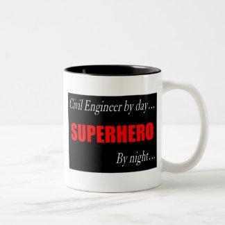 Superhero Civil Engineer Mugs