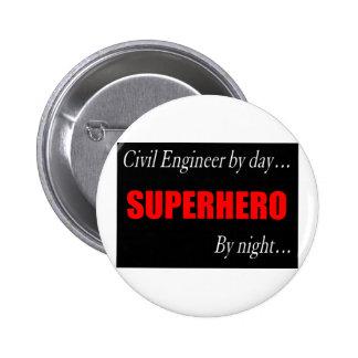 Superhero Civil Engineer Pinback Buttons