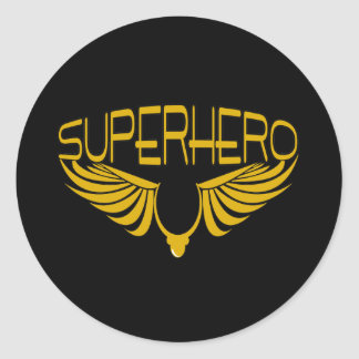 Superhero Classic Round Sticker