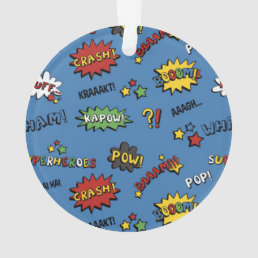 Superhero Colorful Fun Pattern Ornament
