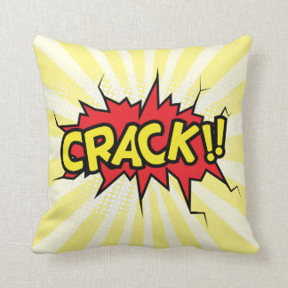 Superhero Comic Book Crack Cartoon Throw Pillow
