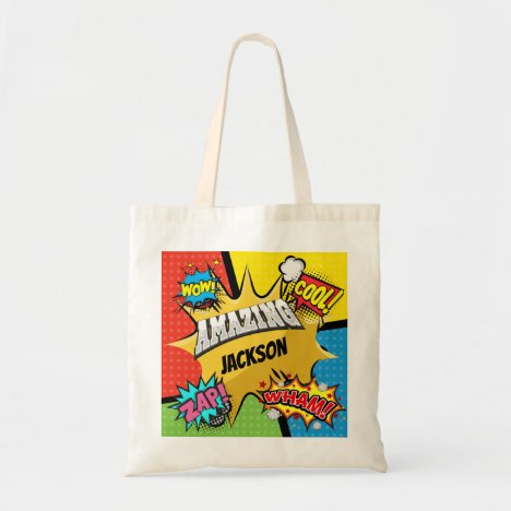 Superhero Comic Book Custom Tote Bag