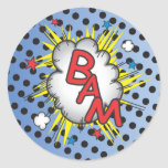 Superhero Comic Book Stickers, Bam!