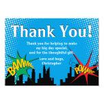 Superhero Comic Boy's Birthday Party Thank You Card
