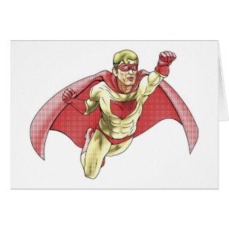 Superhero Comicbook Style Illustration Greeting Cards