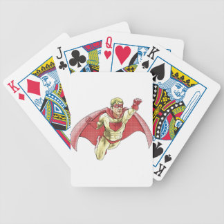 Superhero Comicbook Style Illustration Poker Cards
