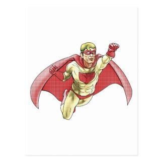 Superhero Comicbook Style Illustration Postcards