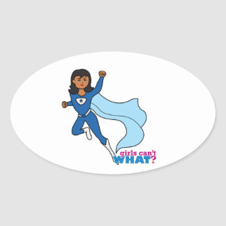 Superhero - Dark Oval Sticker