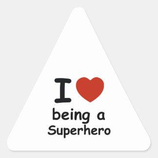 superhero design triangle sticker